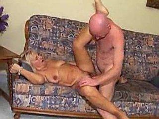 elderly gangbanged by bald male