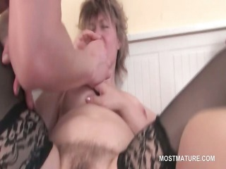 lusty matures sharing young dick in horny copulate