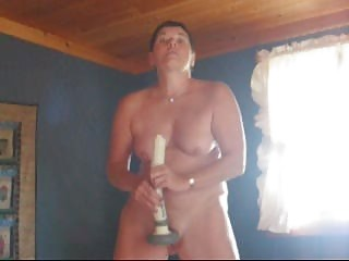 woman and her dildo
