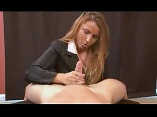 mature babe stacie -  birthday handjob
