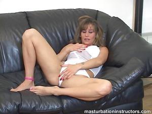 jerk off teacher spreads her feet and starts