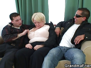 awesome three people with horny elderly