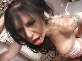 naughty and hot milf takes taut gangbanged