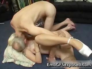 elderly papy piercing fresh tattooed wife