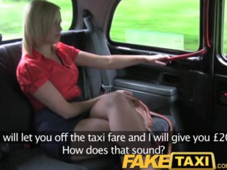 faketaxi super bleached woman takes more than she