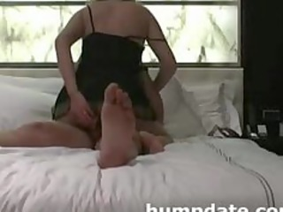 wife inserts device in ass while she acquires
