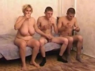 naughty grownup milf with two dudes