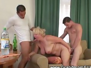 super and horny elderly threesome