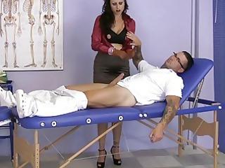 mature babe having on satin gives a handjob