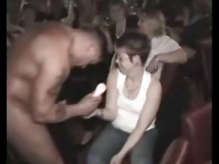 cfnm celebration with busty woman