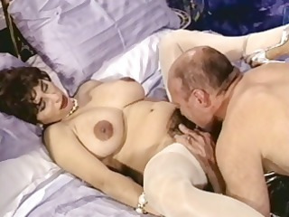 slutty brunette cougar with hairy cave trades