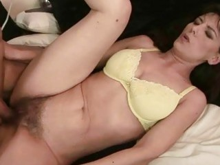 grandma takes her hairy kitty fucked