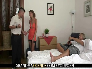 horny old acquires two dicks