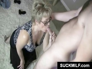 cougar albino inside glasses munches on a