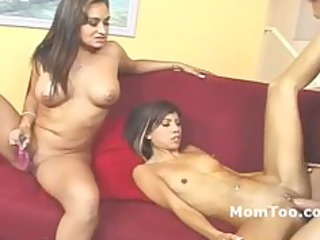 large boob mother and slim daughter pierced on a