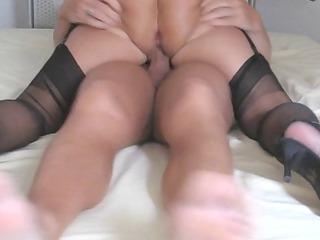 horny amateur elderly in super act