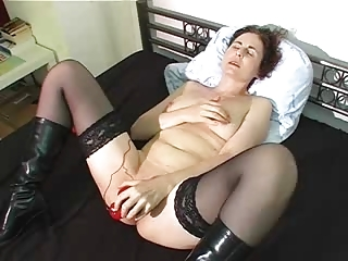 woman acquires off on large black sex toy !