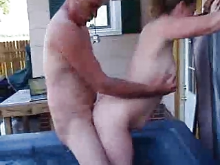 my boss bangs my lady inside the outside spa