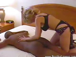 blonde woman with perfectly plump breast gets