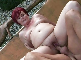 chubby grandma pleasing difficult fuck