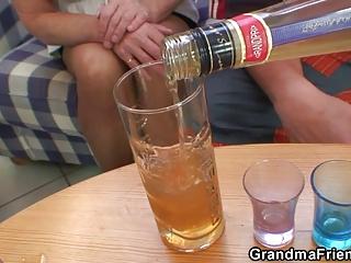 partying fuckers nail albino grandma