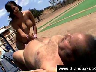 desperate latino amateur drilled by a grandpa