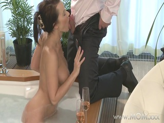 mommy couple make adore inside a sexy bath