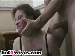 slutty ex housewife acquires tight throat copulate