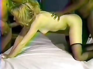 black dicks pierce the colorless blonde lady and