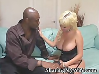 plump boobed ashen housewife drilled by stud