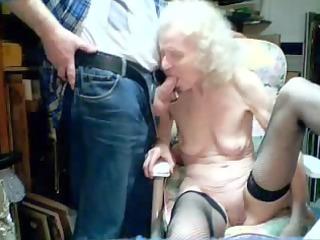 having pleasure with my old maid
