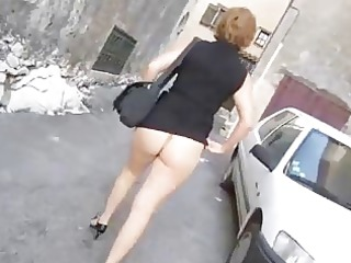 wifes inside miniskirt and unzipped