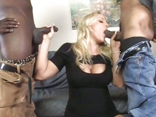 naughty lady acquires dual drilled by blacks