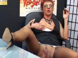 wonderful grownup associate smokes and fist vagina