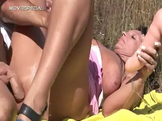 naughty woman acquires drilled difficult outdoor