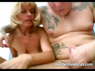 hardcore older  licking and fucking bitch