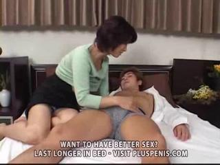 entreats milf and son with plastic cock part1