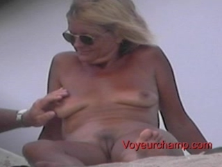 exposed shore lady s teasing!