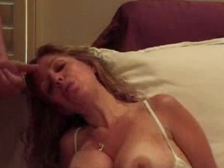 cougar pushing dildo and fellatio