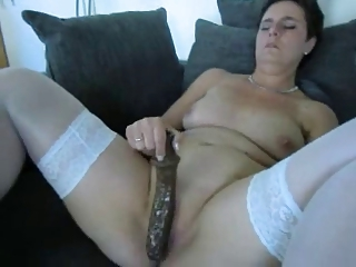 cougar young with a giant vibrator