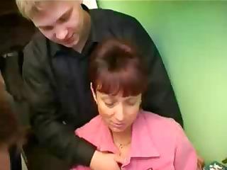 russian mature babe bang 3 dicks