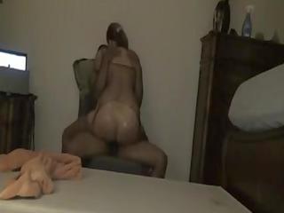 mixed cougar sex clip big wazoo chick rides ebony