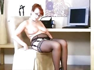 grownup inside stockings, bikini and shoes