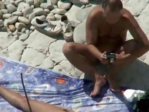 woman and dad drill on a open-air shore