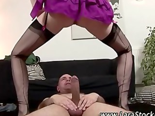 horny american pantyhose whore gets drilled