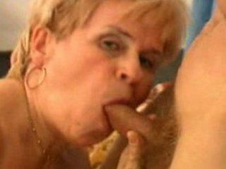 elderly blows and gulps