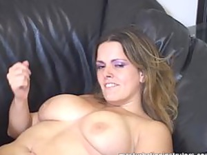 masturbation coach flaunts her large boobs to