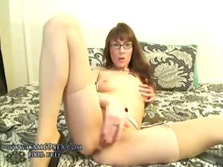 pure inexperienced lady wife masturbating into