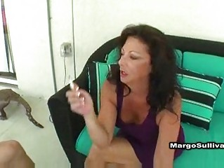 extremely impressive grownup margo smoking fuck