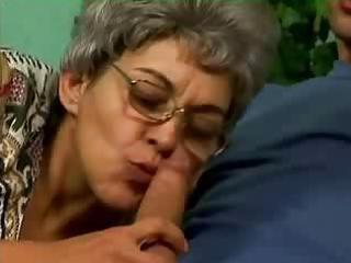 grey haired hairy woman gangbanged